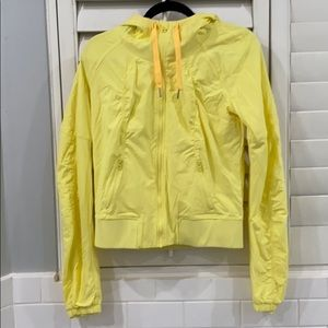 Lululemon yellow zip up long sleeve jacket